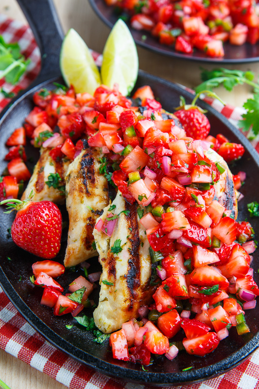 Cilantro Lime Grilled Chicken | 25+ Strawberry Recipes