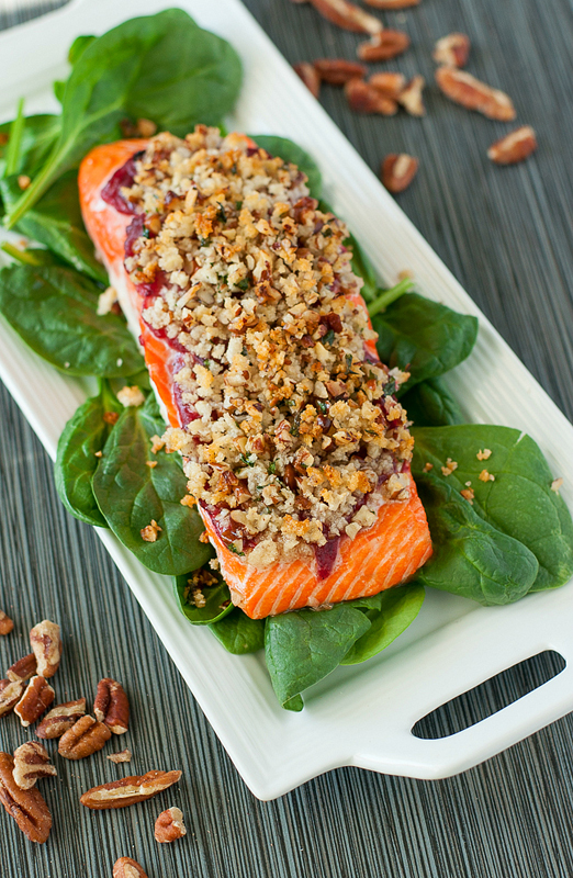 Cranberry Pecan Crusted Salmon | 25+ Pecan Recipes