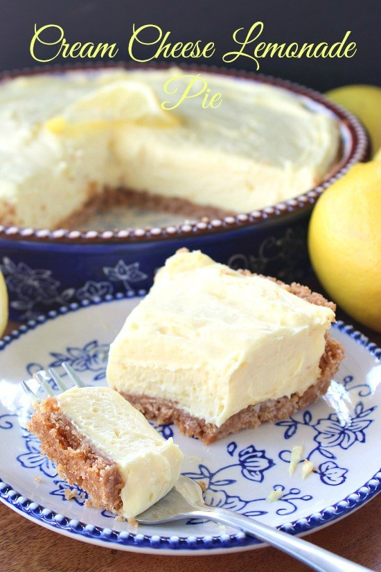 Cream Cheese Lemonade Pie | 25+ Cream Cheese Recipes