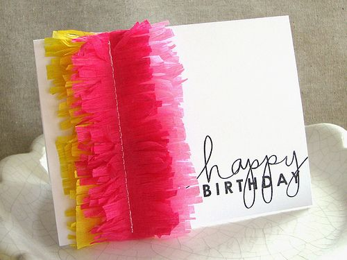Crepe Paper Fringe Card | 25+ Cinco de Mayo Ideas