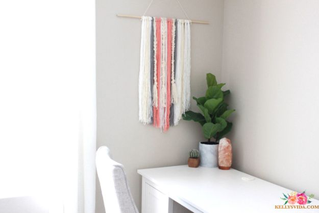 Cheap Wall Decor Ideas - DIY Boho Wall Hanging - Cute and Easy Room Decor for Teens - Ideas for Teenager Bedroom Walls - Boys and Girls Room Canvas Wall Art and Decorating #teen #roomdecor #diydecor https://diyprojectsforteens.com/cheap-diy-wall-decor-ideas