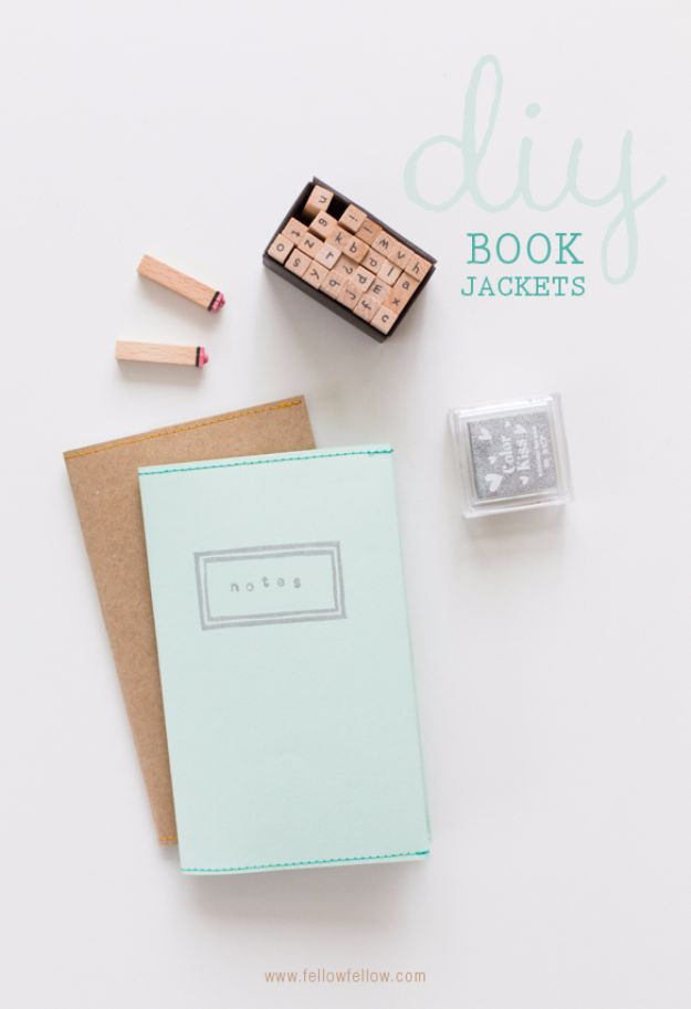 DIY School Supplies - DIY Book Jackets - Easy Crafts and Do It Yourself Ideas for Back To School - Pencils, Notebooks, Backpacks and Fun Gear for Going Back To Class - Creative DIY Projects for Cheap School Supplies - Cute Crafts for Teens and Kids http://diyprojectsforteens.com/diy-back-to-school-supplies