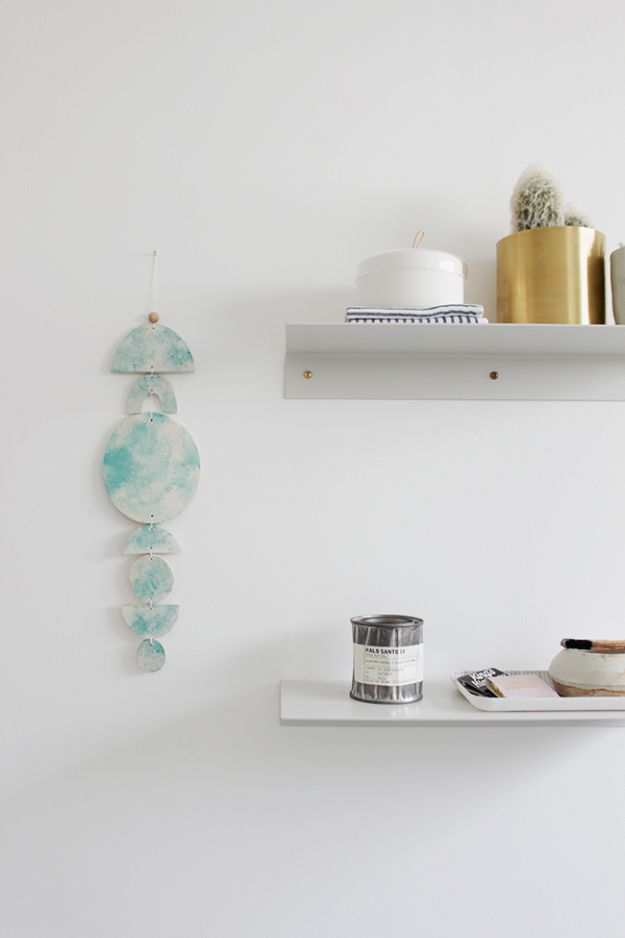 Cheap Wall Decor Ideas - DIY Clay Wall Hanging - Cute and Easy Room Decor for Teens - Ideas for Teenager Bedroom Walls - Boys and Girls Room Canvas Wall Art and Decorating #teen #roomdecor #diydecor https://diyprojectsforteens.com/cheap-diy-wall-decor-ideas