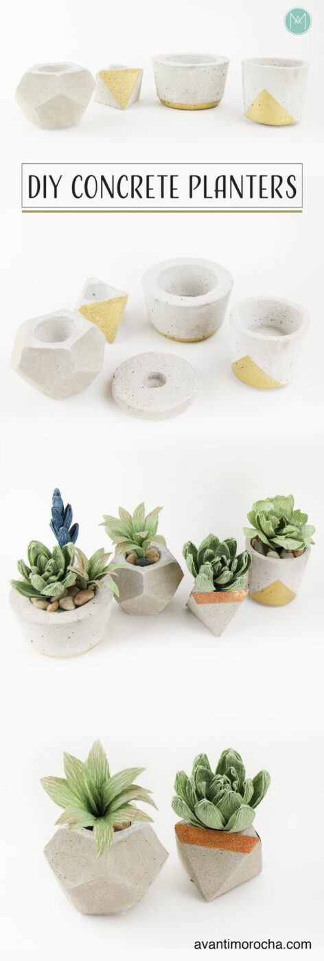 15 Cool and Modern DIY Concrete Projects - DIY concrete projects, DIY concrete project, DIY Concrete Garden Ornaments, DIY Concrete