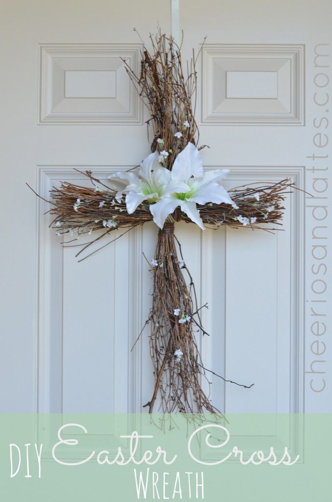 DIY Easter Cross Wreath | 25+ Easter and Spring Decorations
