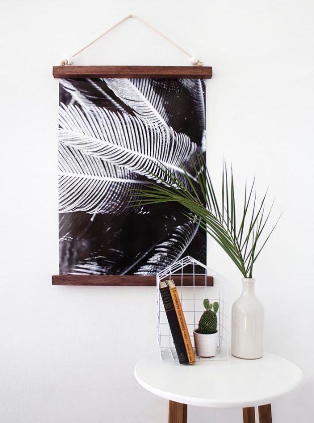 Cheap Wall Decor Ideas - DIY Hanging Half Frame - Cute and Easy Room Decor for Teens - Ideas for Teenager Bedroom Walls - Boys and Girls Room Canvas Wall Art and Decorating #teen #roomdecor #diydecor https://diyprojectsforteens.com/cheap-diy-wall-decor-ideas