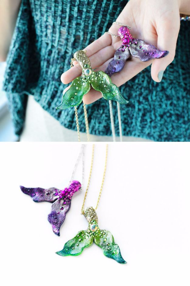 DIY Mermaid Crafts - DIY Magic Mermaid Tails - How To Make Room Decorations, Art Projects, Jewelry, and Makeup For Kids, Teens and Teenagers - Mermaid Costume Tutorials - Fun Clothes, Pillow Projects, Mermaid Tail Tutorial http://diyprojectsforteens.com/diy-mermaid-crafts