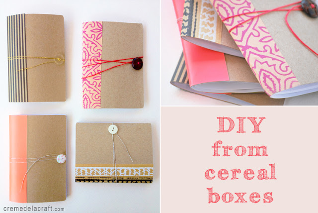 DIY Mini Pocket Notebook from Cereal Box