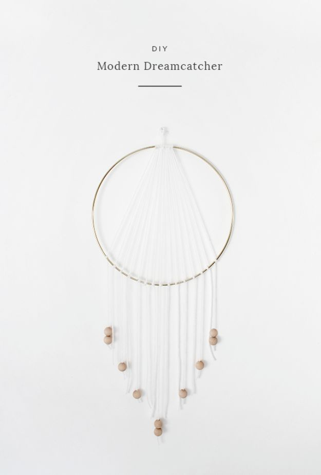 DIY Dream Catchers - DIY Modern Dreamcatcher - How to Make a Dreamcatcher Step by Step Tutorial - Easy Ideas for Dream Catcher for Kids Room - Make a Mobile, Moon Designs, Pattern Ideas, Boho Dreamcatcher With Sticks, Cool Wall Hangings for Teen Rooms - Cheap Home Decor Ideas on A Budget http://diyprojectsforteens.com/diy-dreamcatchers