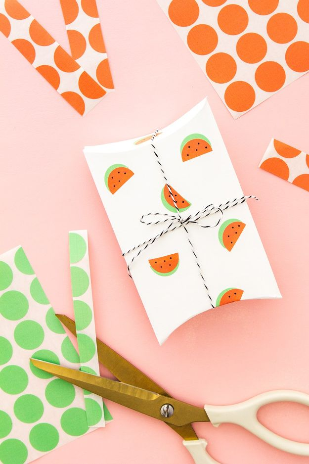 Watermelon Crafts - DIY Office Label Watermelon Stickers - Easy DIY Ideas With Watermelons - Cute Craft Projects That Make Cool DIY Gifts - Wall Decor, Bedroom Art, Jewelry Idea