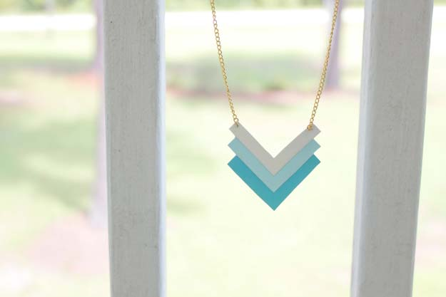 Paper Geometric Necklace