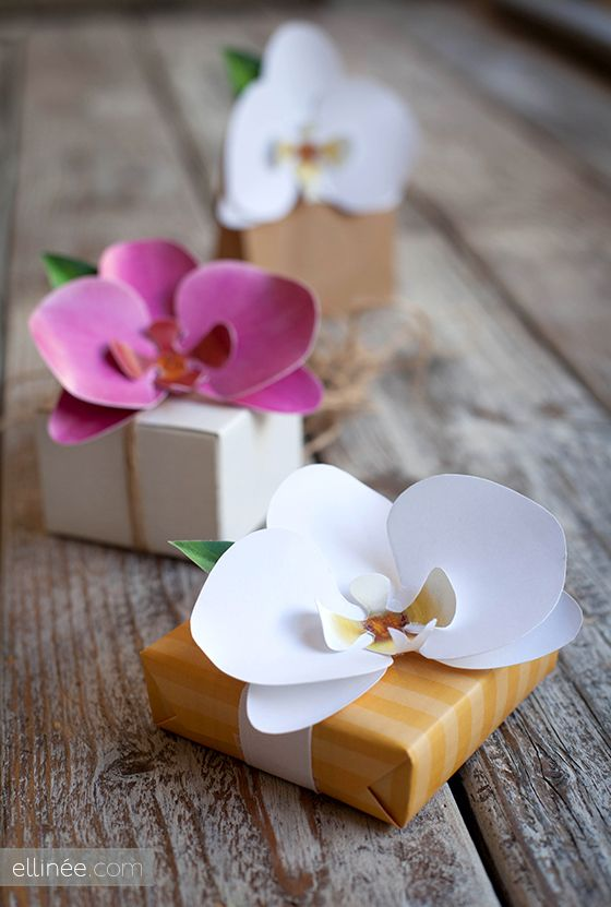 DIY Paper Orchid | 25+ Mother's Day Gift Ideas