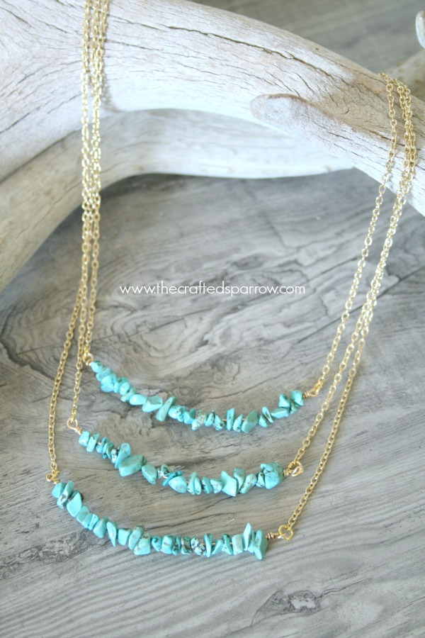 DIY Simple Turquoise Necklace