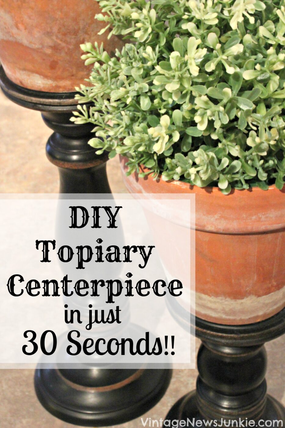 DIY Topiary Centerpiece in just 30 Seconds! | 25+ May Day ideas