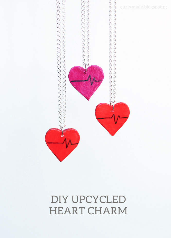 DIY Valentine's Day Upcycled Heart Charms