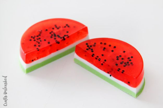 Soap Recipes DIY - DIY Watermelon Soap - DIY Soap Recipe Ideas - Best Soap Tutorials for Soap Making Without Lye - Easy Cold Process Melt and Pour Tips for Beginners - Crockpot, Essential Oils, Homemade Natural Soaps and Products - Creative Crafts and DIY for Teens, Kids and Adults http://diyprojectsforteens.com/cool-soap-recipes