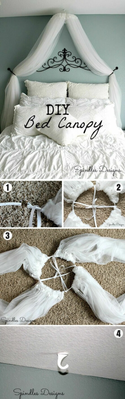 Bedroom Project Ideas DIY Bed Canopy