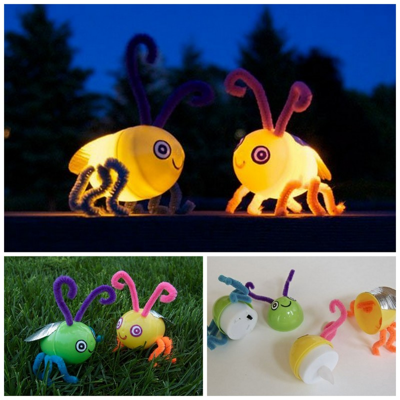 DIY fireflies | 25+ Summer crafts for kids