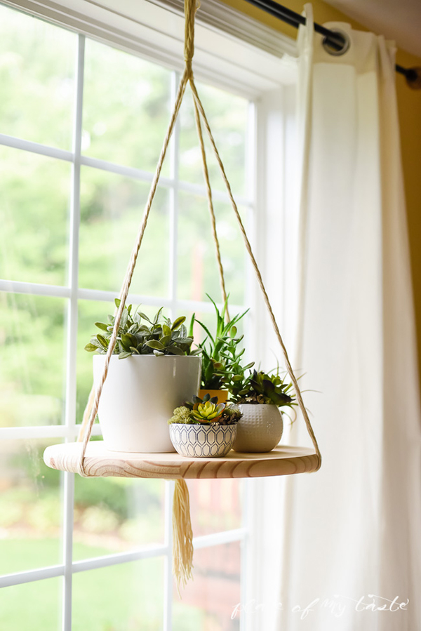 DIY Hanging Plant Holder Shelf