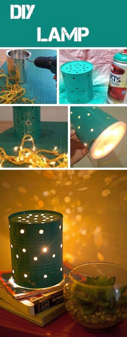 Repurpose Tin Cans Into A DIY Lamp