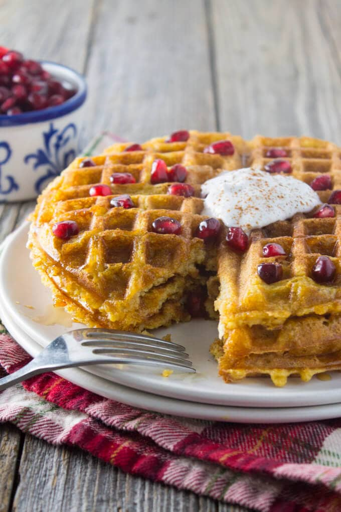 dairy free whole wheat butternut squash waffles + Top 50 Easter Brunch Recipes that will please every guest on your list!