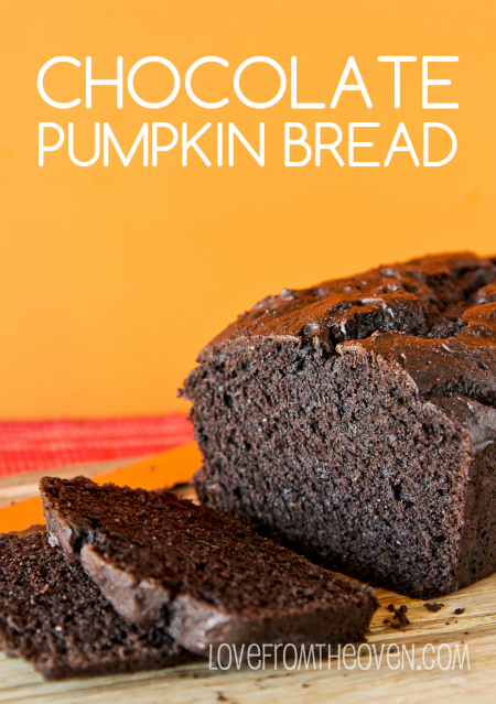Dark Chocolate Pumpkin Bread | 25+ Quick Bread Recipes (No Yeast Required)