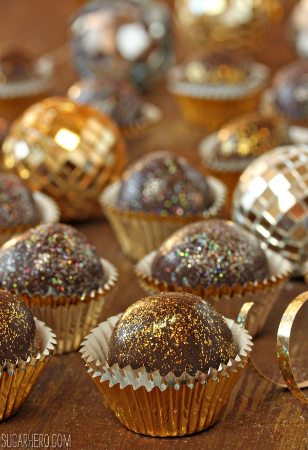 Disco Truffles for New Year's Eve | 25+ NYE party ideas