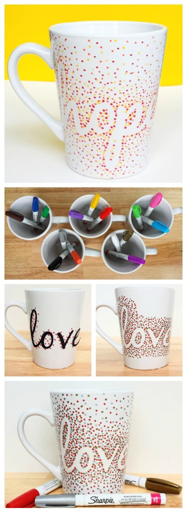 DIY Dotted Sharpie Mugs Using Oil Based Sharpies | 25+ Sharpie Crafts