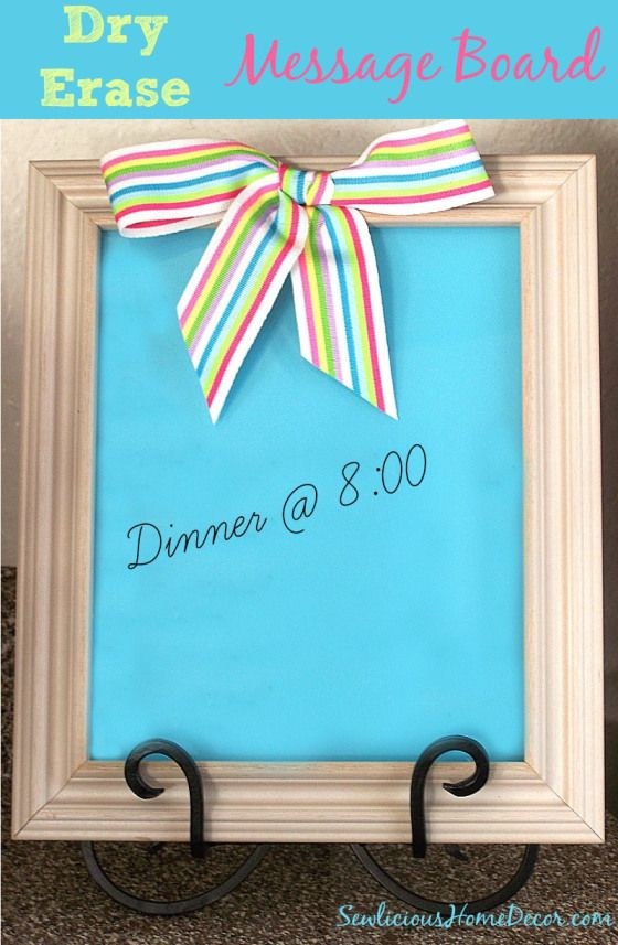 Dry Erase Message Board | 25+ Mother's Day Gift Ideas