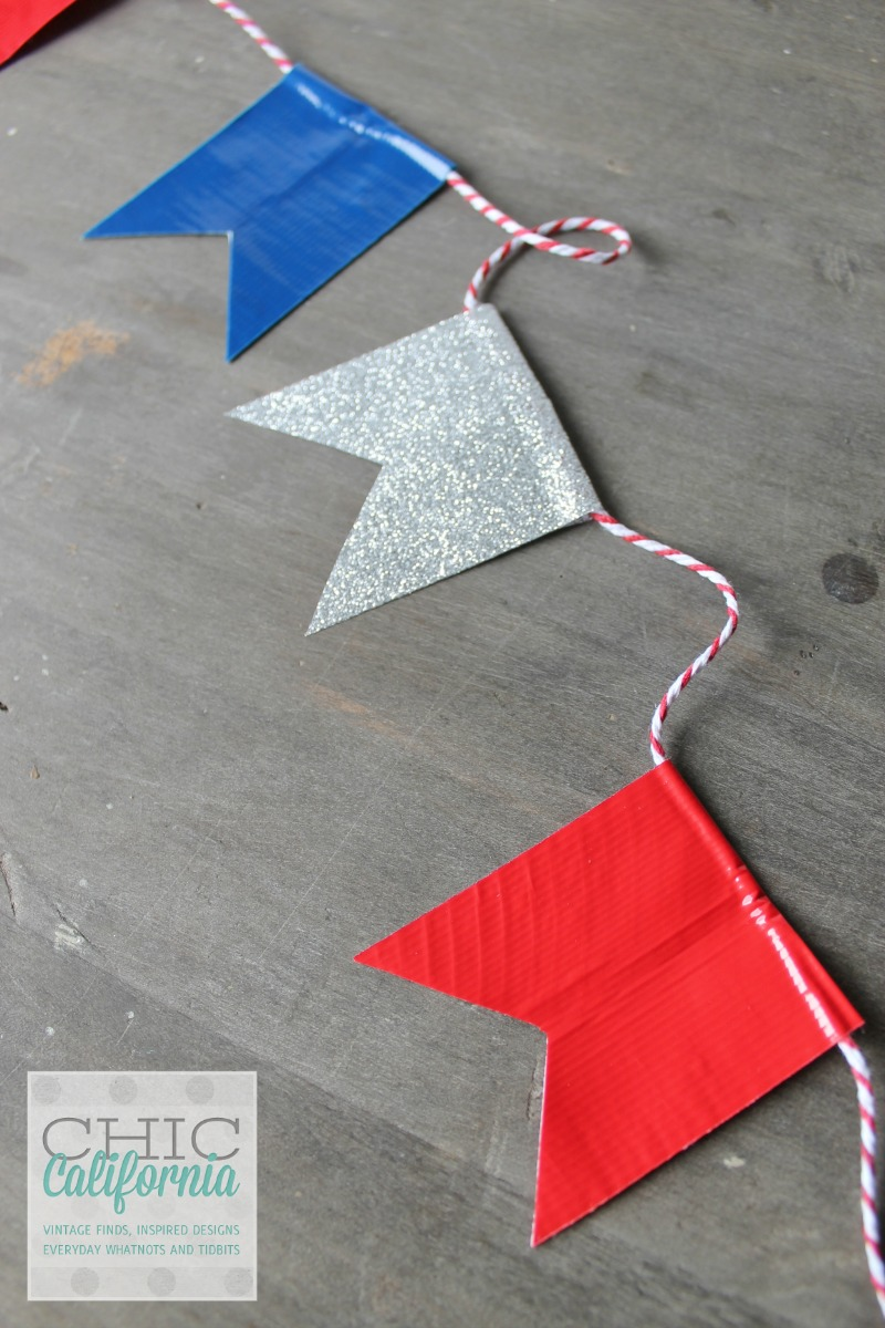 Duct tape 4th of July banner | 25+ 4th of July Party Ideas