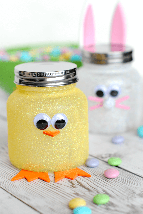 Easter candy jars + 25 Easter Crafts for Kids - Fun-filled Easter activities for you and your child to do together!