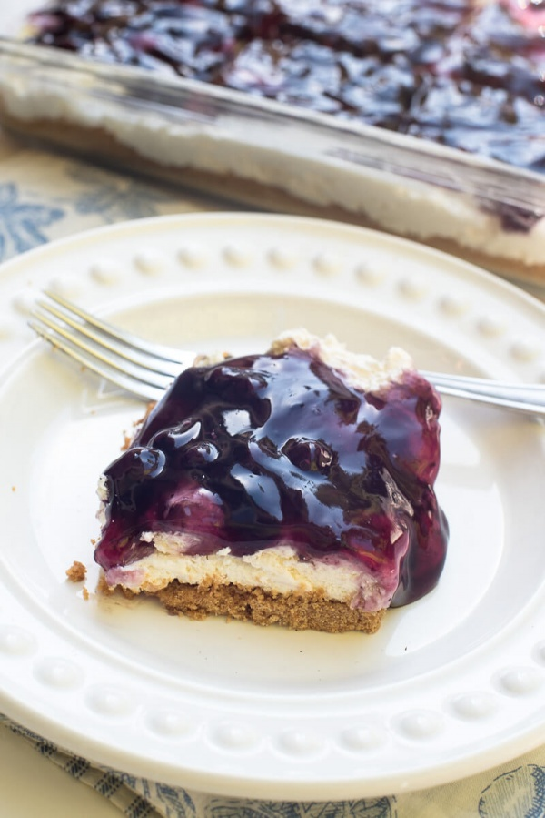 Easy Blueberry Cheesecake Dessert | 25+ Cream Cheese Recipes