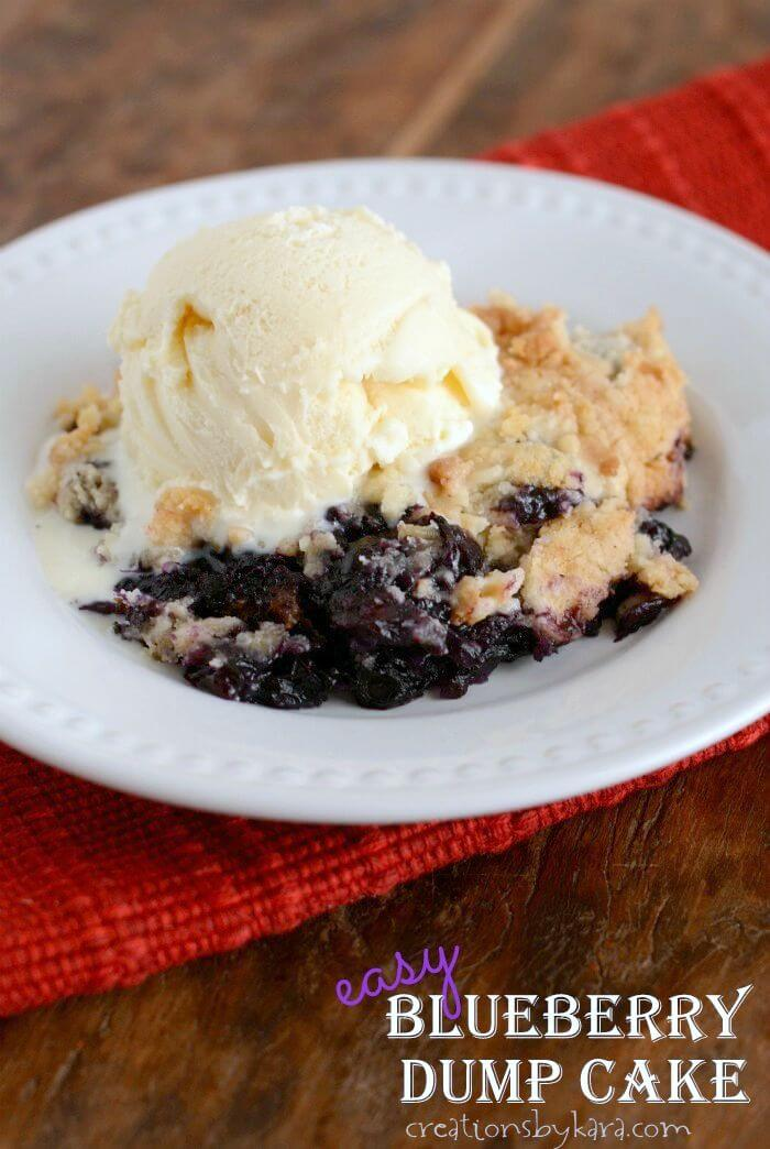Easy Blueberry Dump Cake + 50 Delicious Berry Recipes... refreshingly sweet treats that you can enjoy all summer long!