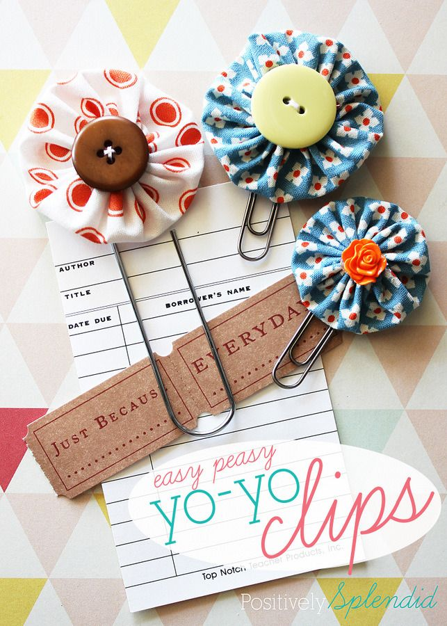 Easy Peasy Yo-Yo Clips | 25+ More Handmade Gift Ideas Under $5