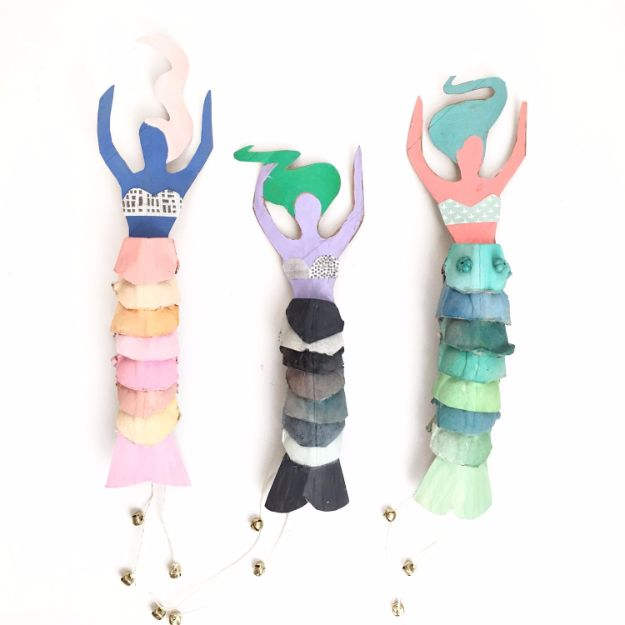 DIY Mermaid Crafts - Egg Carton Mermaid Dolls - How To Make Room Decorations, Art Projects, Jewelry, and Makeup For Kids, Teens and Teenagers - Mermaid Costume Tutorials - Fun Clothes, Pillow Projects, Mermaid Tail Tutorial http://diyprojectsforteens.com/diy-mermaid-crafts