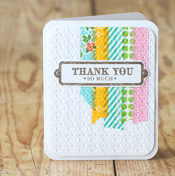 Embossed Washi Thank You Card | 25+ Handmade Cards