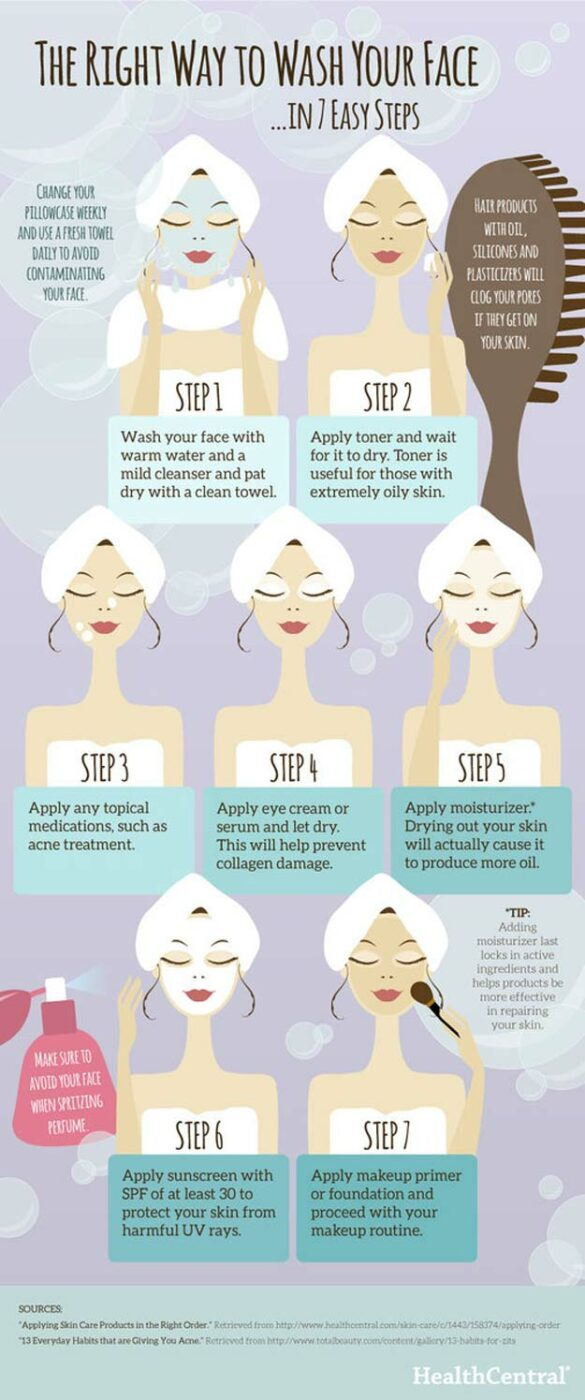Beauty Hacks Right Way To Wash Your Face