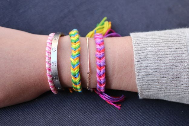 DIY Friendship Bracelets - Fishtail Braid Friendship Bracelets - Woven, Beaded, Leather and String - Cheap Embroidery Thread Ideas - DIY gifts for Teens