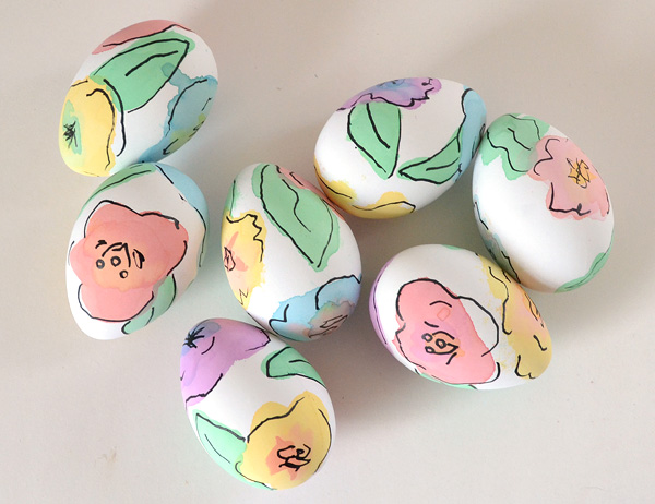 Floral Easter Eggs | 25+ MORE ways to decorate Easter Eggs