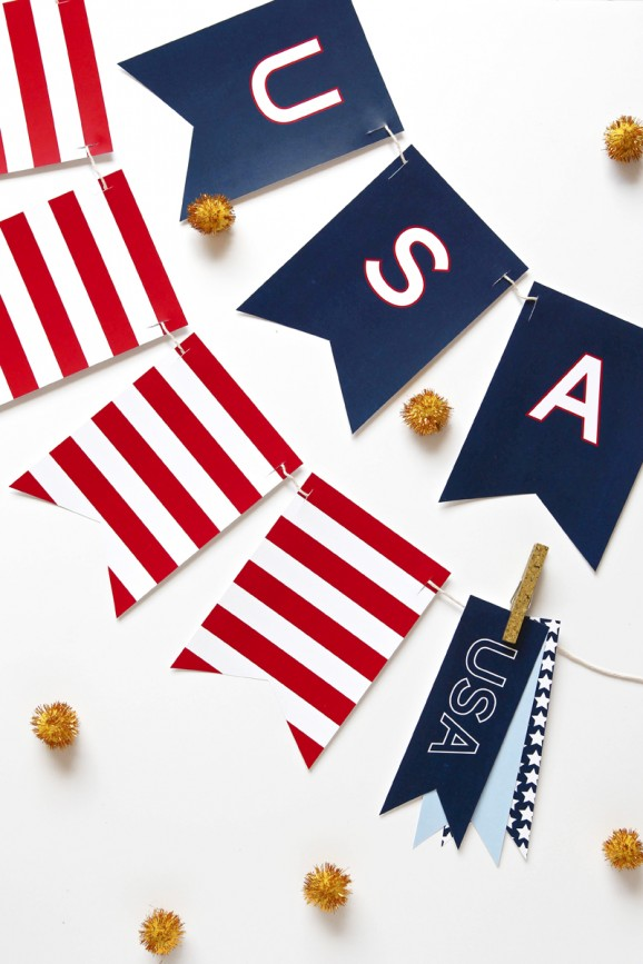 Free 4th of July Banner | 25+ 4th of July Party ideas
