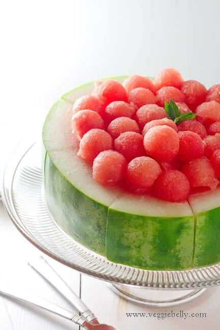 "Fresh Watermelon Cake + 25 Mouth-Watering Watermelon Desserts...the perfect refreshment that shouts, ""Summertime is here!"""