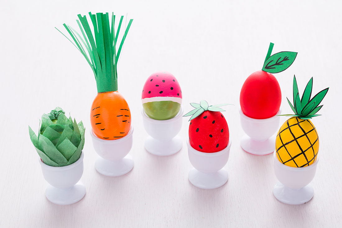 Fruit and Veggie Eggs | 25+ MORE ways to decorate Easter Eggs