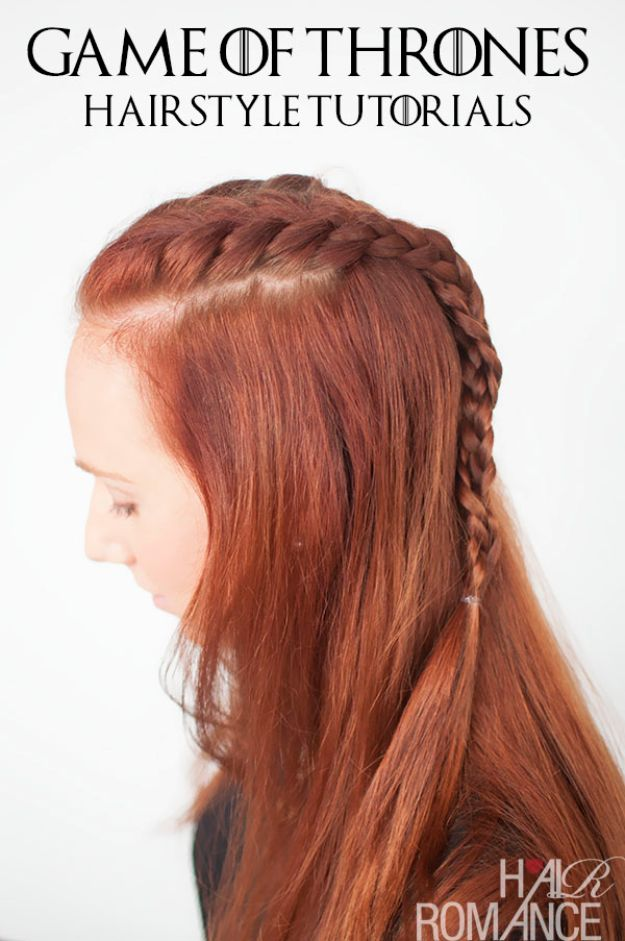 Easy Braids With Tutorials - Game Of Thrones Braid - Cute Braiding Tutorials for Teens, Girls and Women - Easy Step by Step Braid Ideas - Quick Hairstyles for School - Creative Braids for Teenagers - Tutorial and Instructions for Hair Braiding http://diyprojectsforteens.com/easy-braids-tutorials