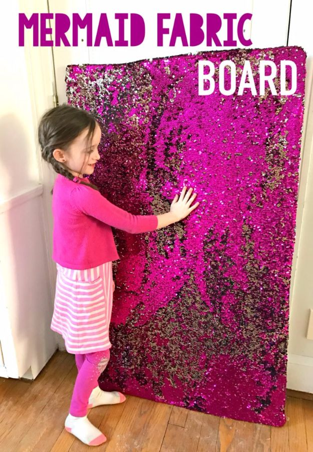 DIY Mermaid Crafts - Giant Mermaid Fabric Sensory Board - How To Make Room Decorations, Art Projects, Jewelry, and Makeup For Kids, Teens and Teenagers - Mermaid Costume Tutorials - Fun Clothes, Pillow Projects, Mermaid Tail Tutorial http://diyprojectsforteens.com/diy-mermaid-crafts