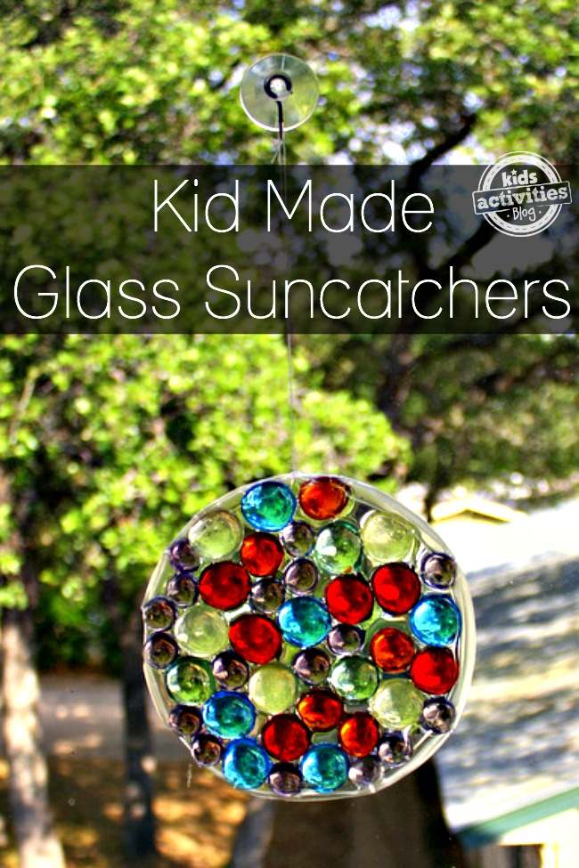 Glass Suncatcher Craft | 25+ Summer Crafts for Kids