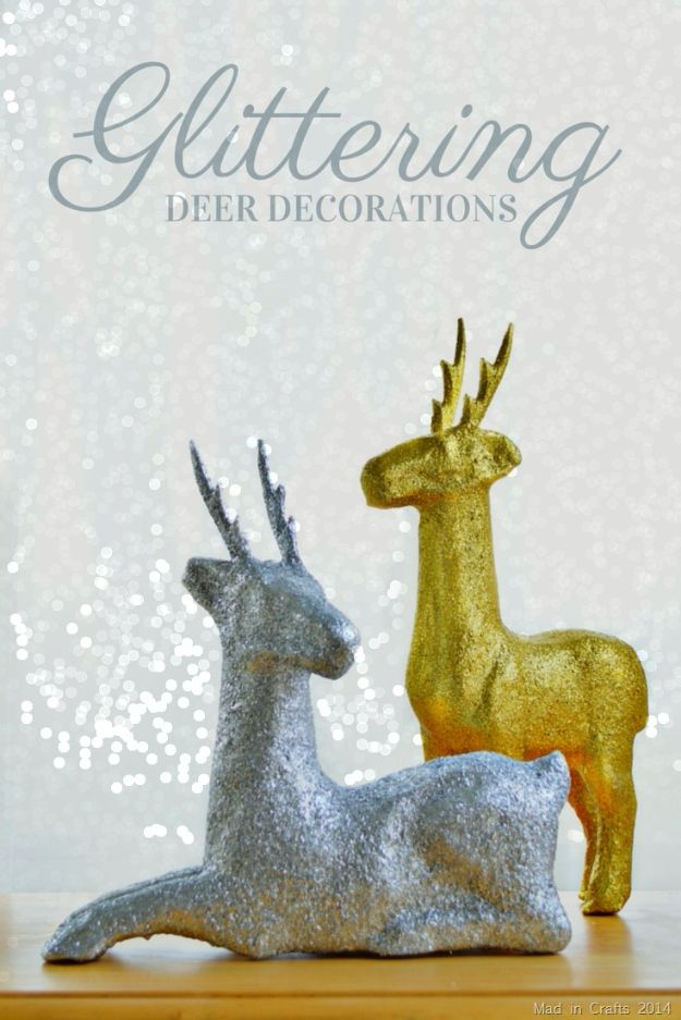 Creative Paper Mache Crafts - Glittered Paper Mache Deer Tutorial - Easy DIY Ideas for Making Paper Mache Projects - Cool Newspaper and Paper Bag Craft Tips - Recipe for for How To Make Homemade Paper Mashe paste - Halloween Masks and Costume Tutorials - Sculpture, Animals and Ideas for Kids http://diyprojectsforteens.com/paper-mache-crafts