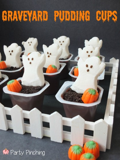 Graveyard Pudding Cups | 25+ Halloween Party Food Ideas