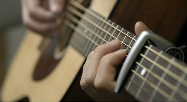 How to Use a Capo on a Guitar - sharps, guitar, flats, chord, capo