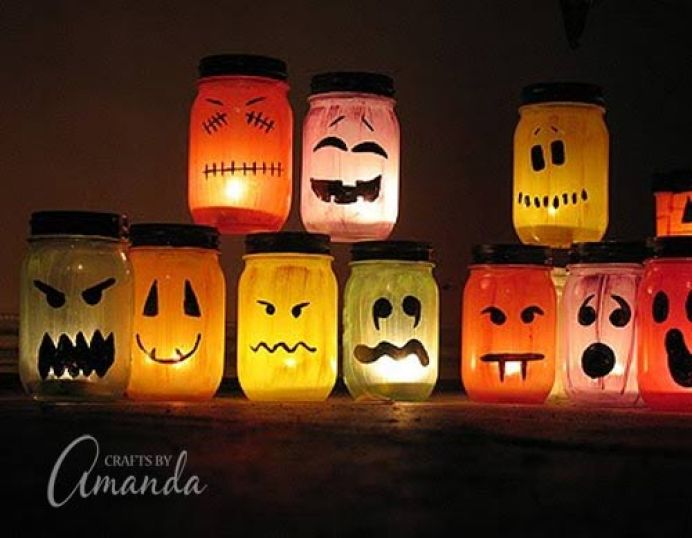 Jack-o-Lantern Luminaries DIY for Halloween