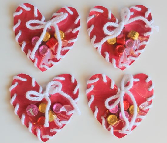 Hand Sewn Paper Heart | 25+ Valentine Crafts for Kids
